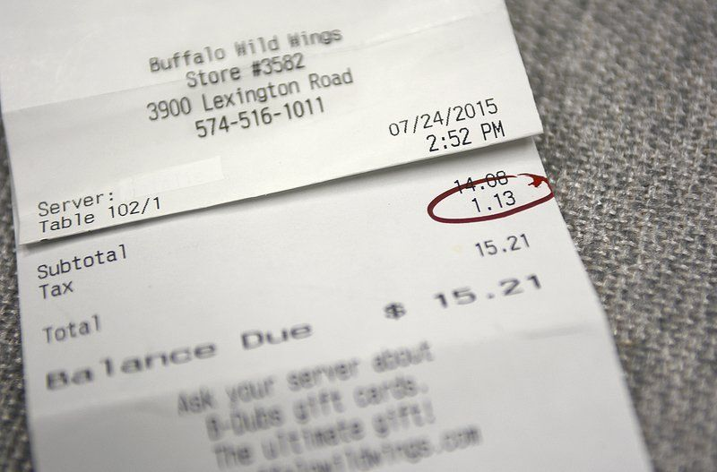 Logansport Buffalo Wild Wings overcharged for sales tax Local News
