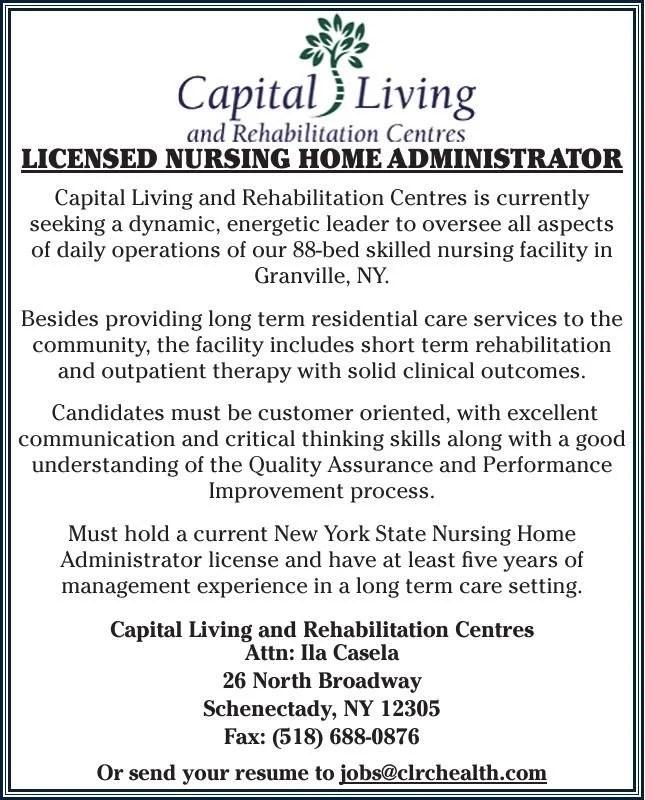 Licensed Nursing Home Administrator Ad Vault poststar