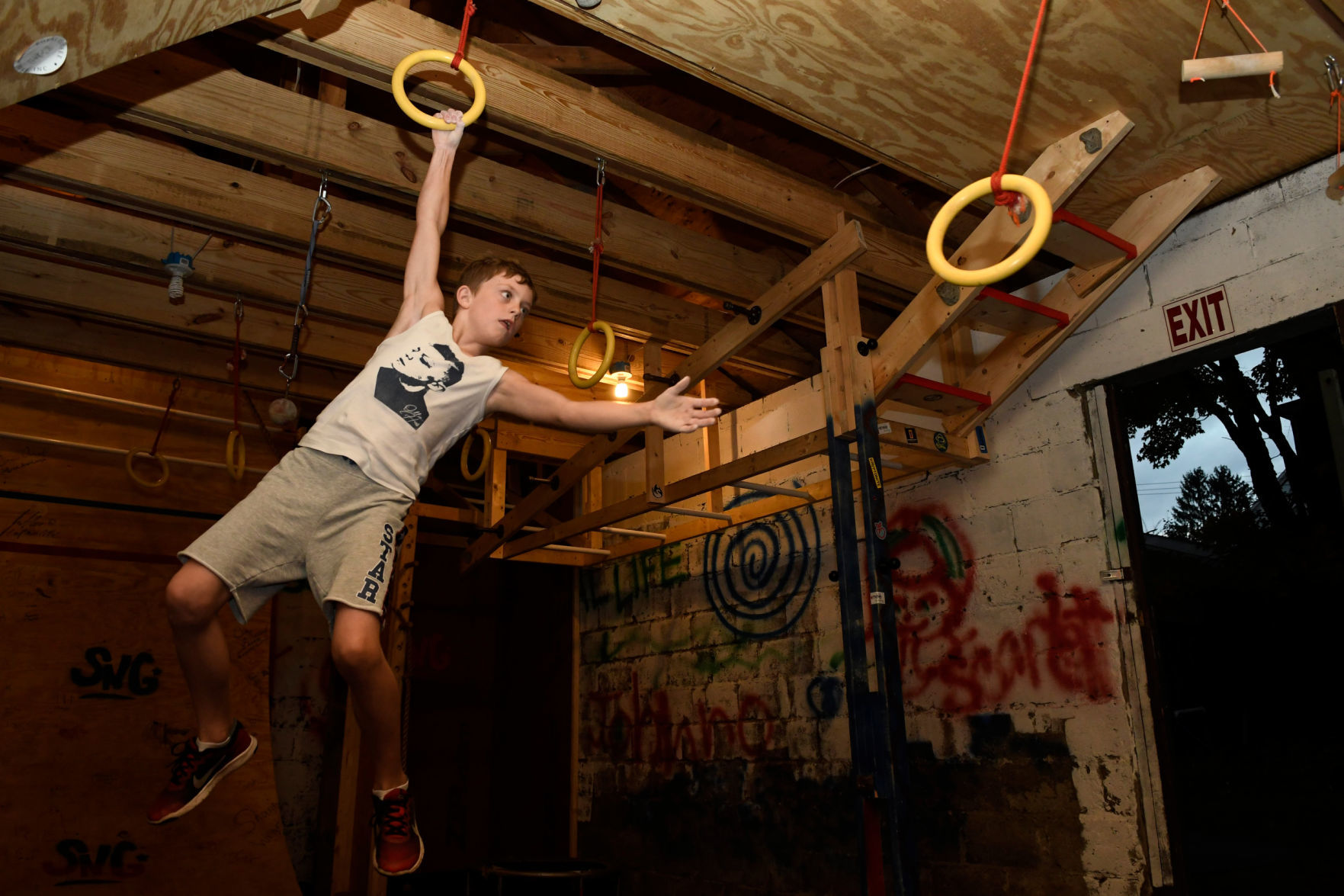 Garage Gym Warrior Saratoga Springs Boy 9 To Compete On American Ninja Warrior