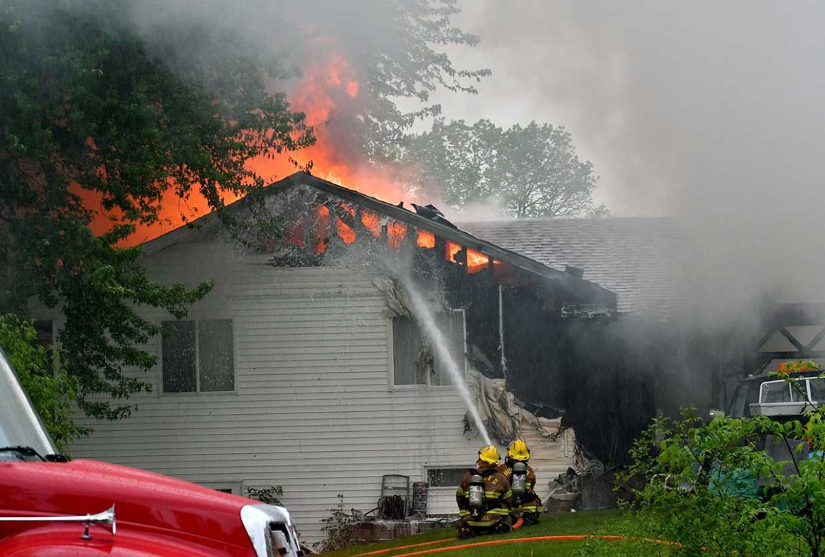 Updated Firefighters Battle House Fire In Hugo News