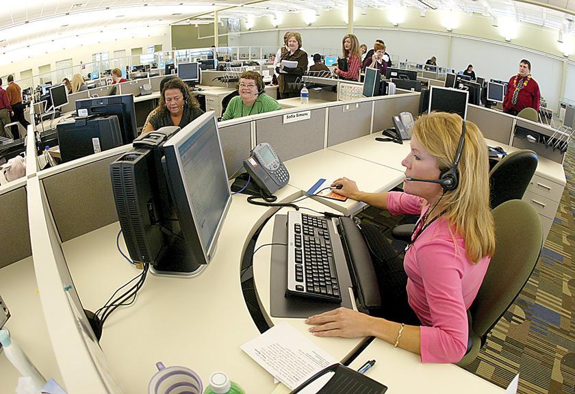 Davenport ATT Call Center representatives field first calls from