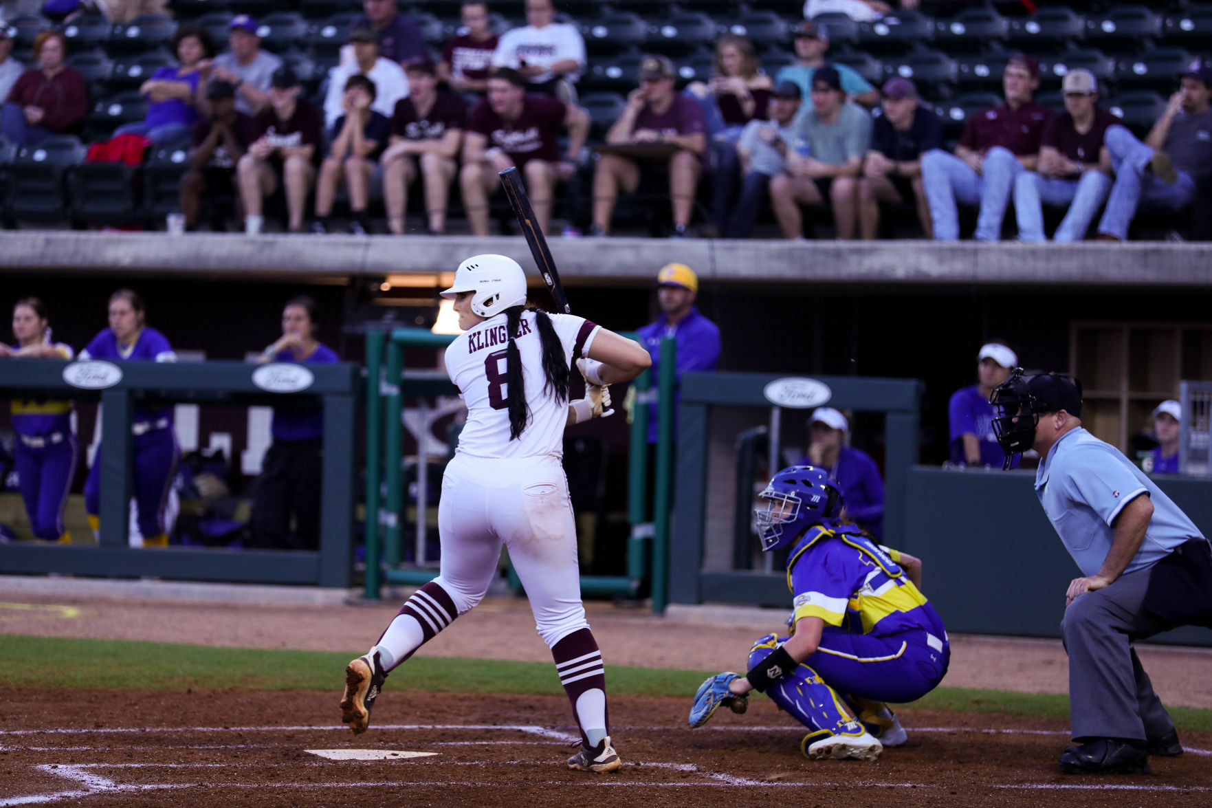 Garage Games Invitational Texas A M Softball Team Splits First Two Games At Home