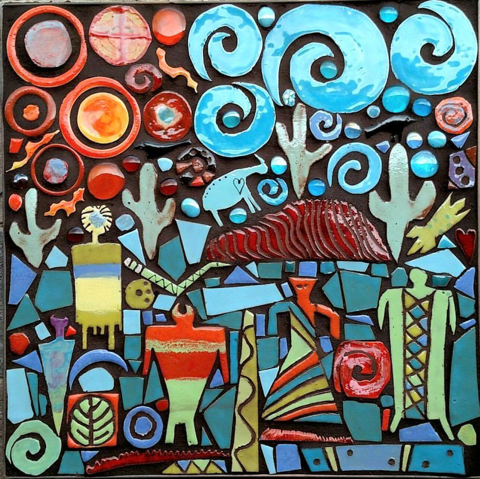 Tucson Artist Creates Colorful Mosaic Tiles Southwest Inspired Paintings Caliente Tucson Com
