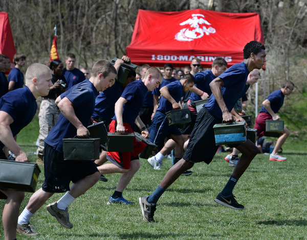 Intense fitness event gives Marine recruits a preview of their