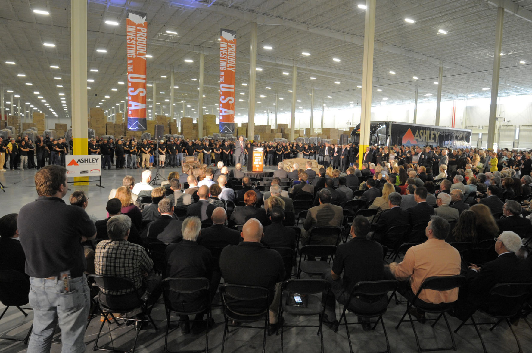 Grand Opening Of Ashley Manufacturing Distribution Center Attracts Dignitaries Local News Journalnow Com