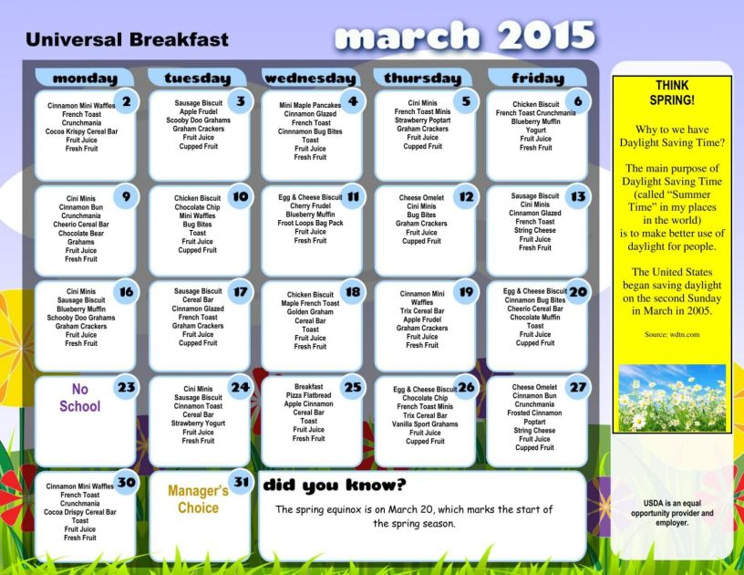 5 Things To Know About Ncs New Achievement School District March Breakfast And Lunch Menus Announced Journalpatriot