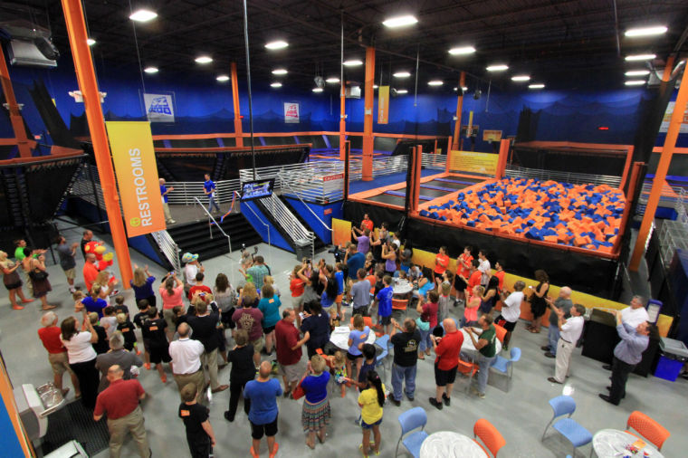 Watch Sky Zone open its doors to the public with ribbon-cutting