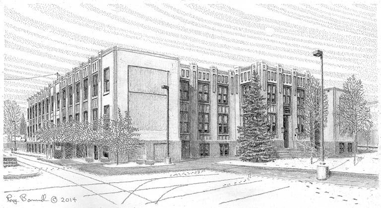 Main School, now City Hall, is a Fairbanks fixture Sketches Of