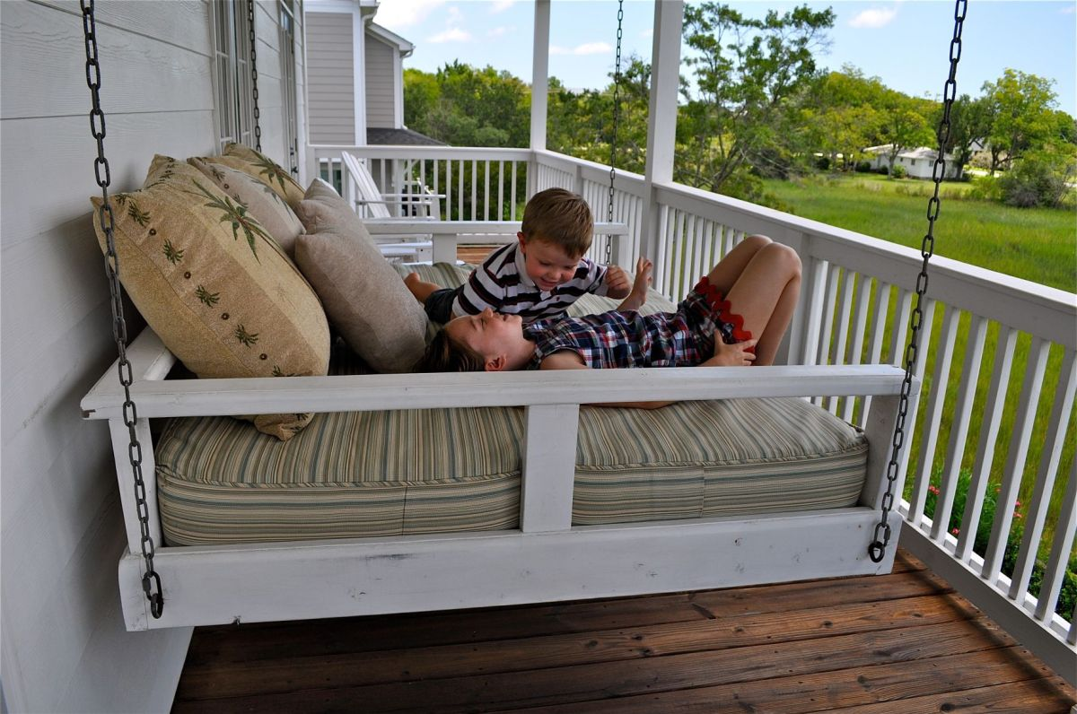 The New Star Of The Porch Hanging Bed Swings Gaining Popularity On The South39s Favorite Room