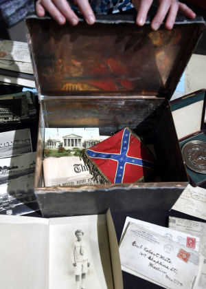Red 1 Next To Time Capsule Forgotten Time Capsule Found At Virginia Historical Society