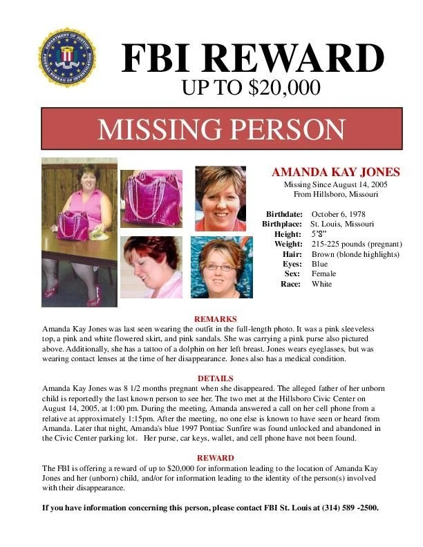 New Amanda Jones missing person flyer stltoday