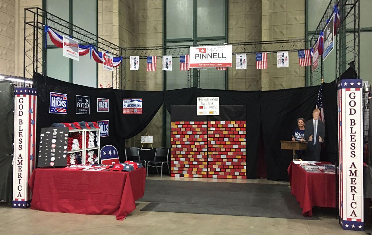 Tulsa County Gop Fundraising 39wall39 Display At Fair Back