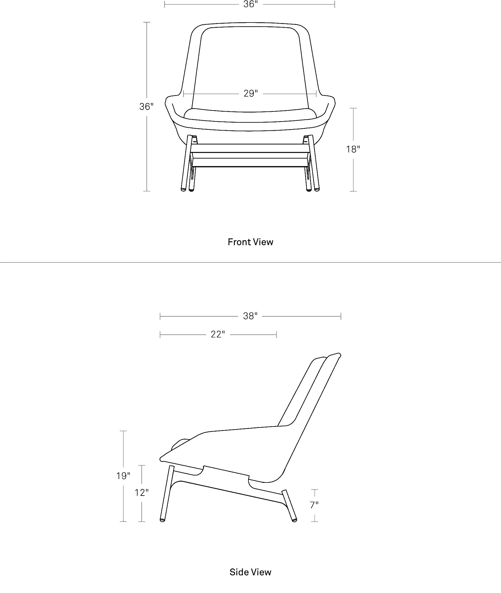 Lounge Chair Measurements Field Lounge Chair Modern Lounge Chair Blu Dot