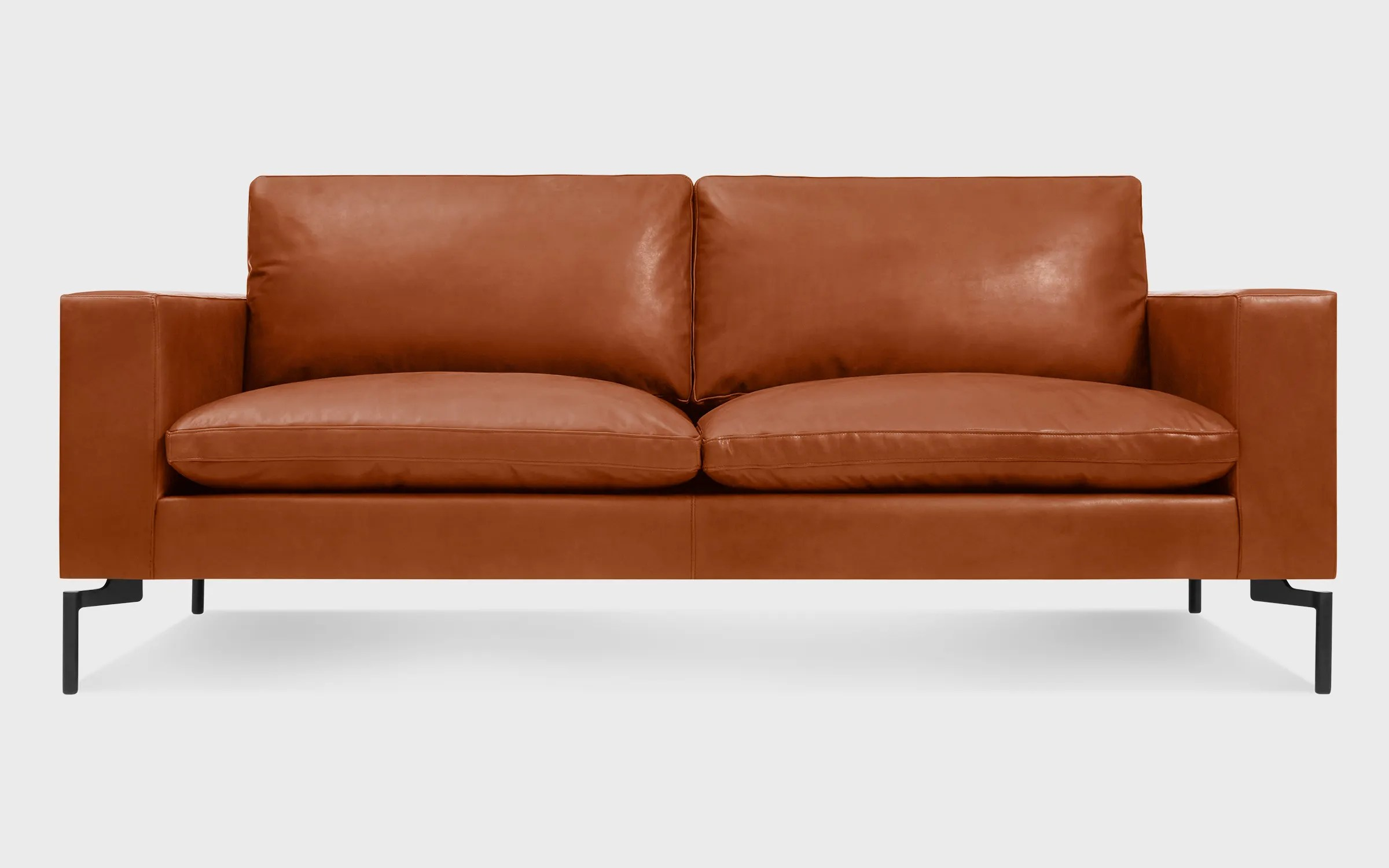 Brown Real Leather Couch New Standard 78