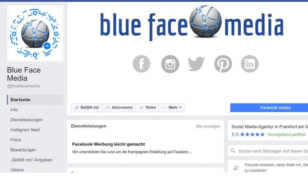 Facebook Titelbild Profilbild Blue Face Media Gmbh