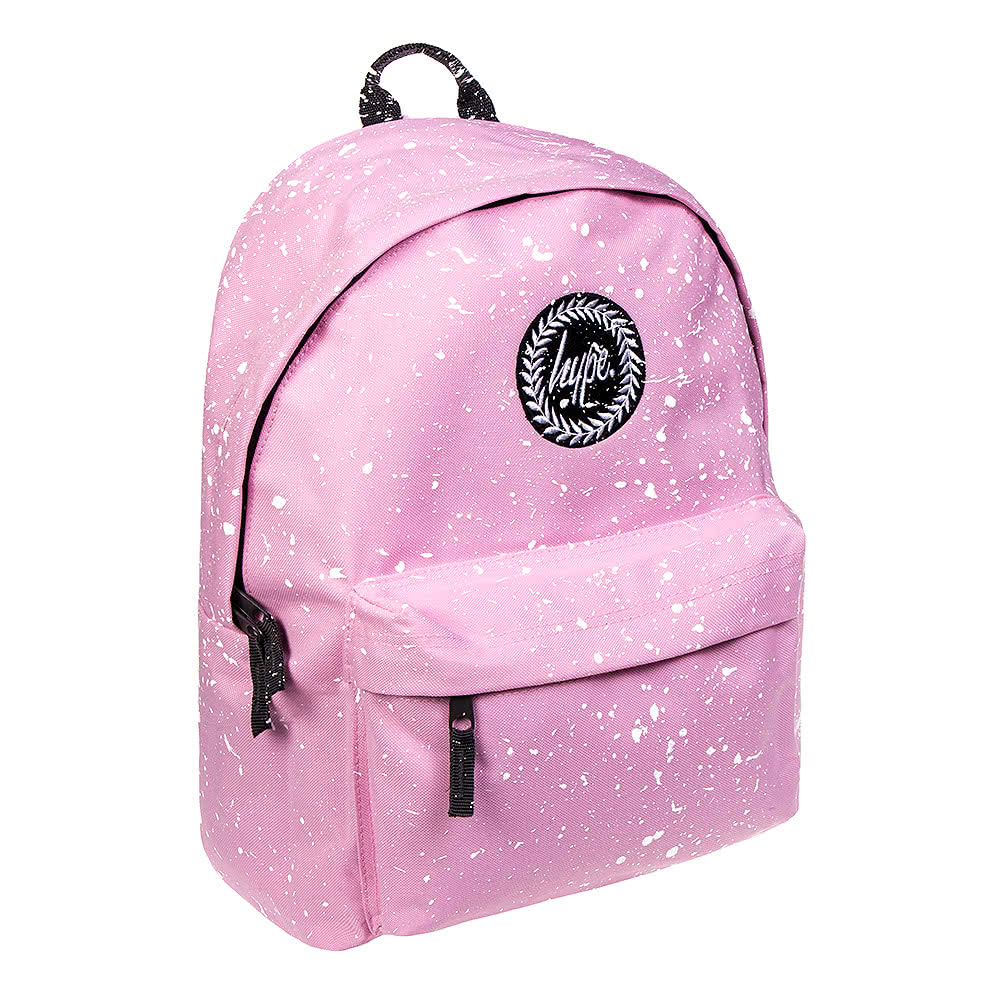 Hype Splat Baby Pink White Backpack Speckle School Bag Uk
