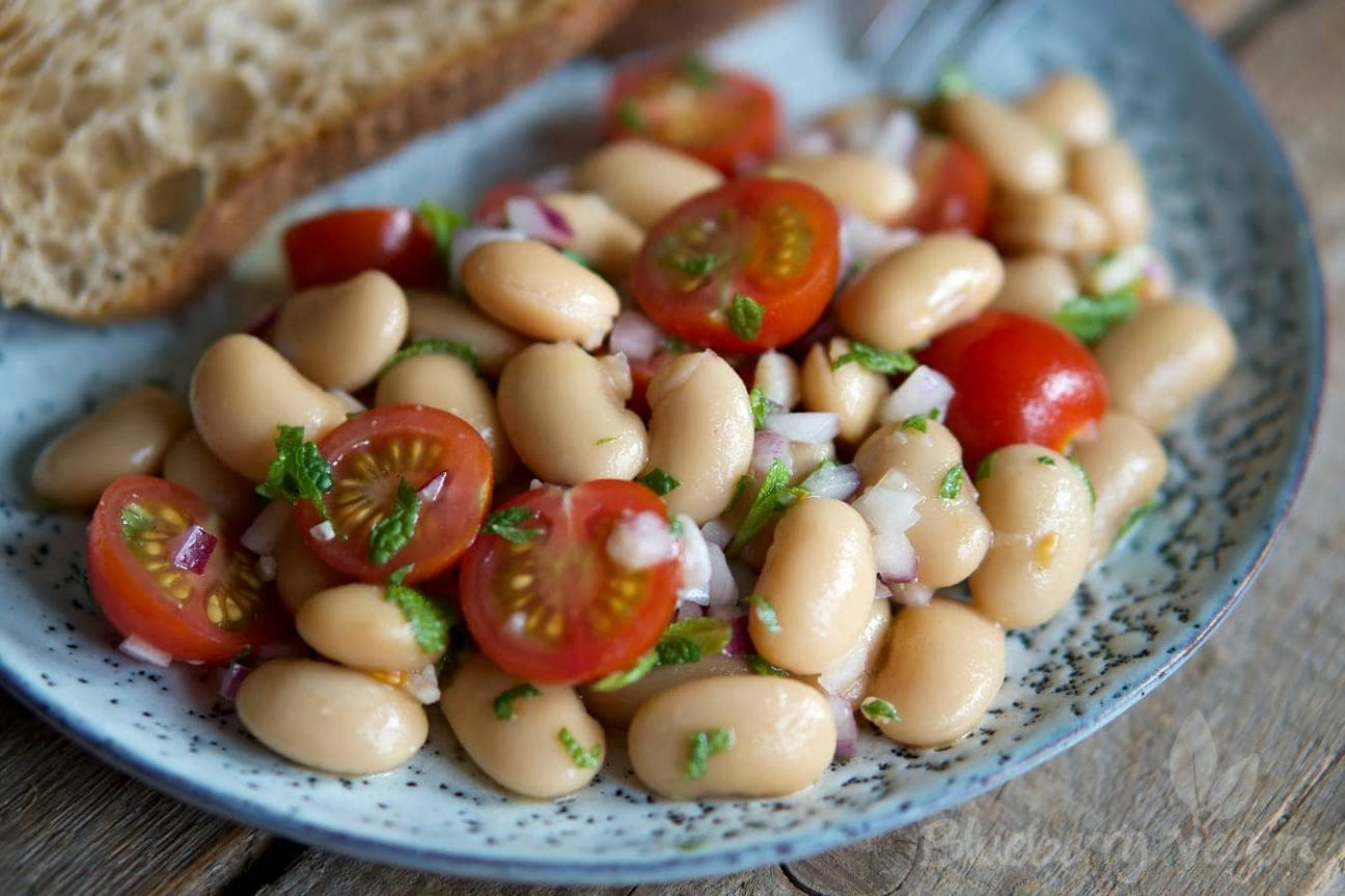 Tomato Wuppertal Aromatic White Bean Salad With Tomatoes And Mint