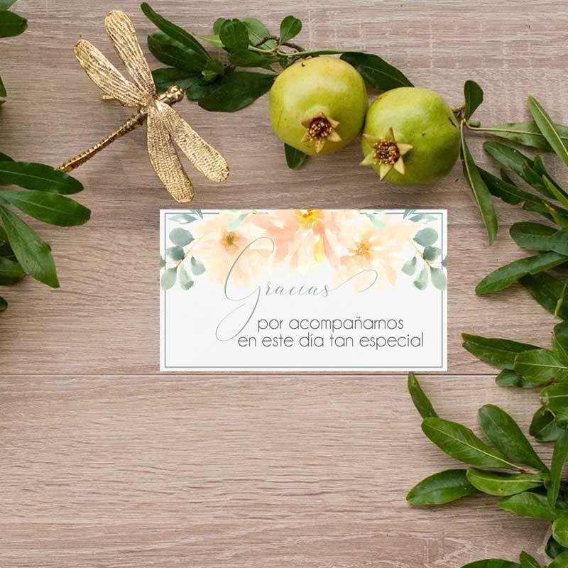 Tarjeta de agrademientos boda rústica Papelería de boda al detalle