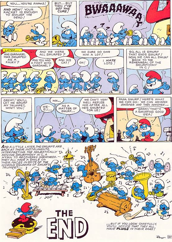 Baby Dolls Episode Smurphony In C The Flying Smurf Smurfs Story