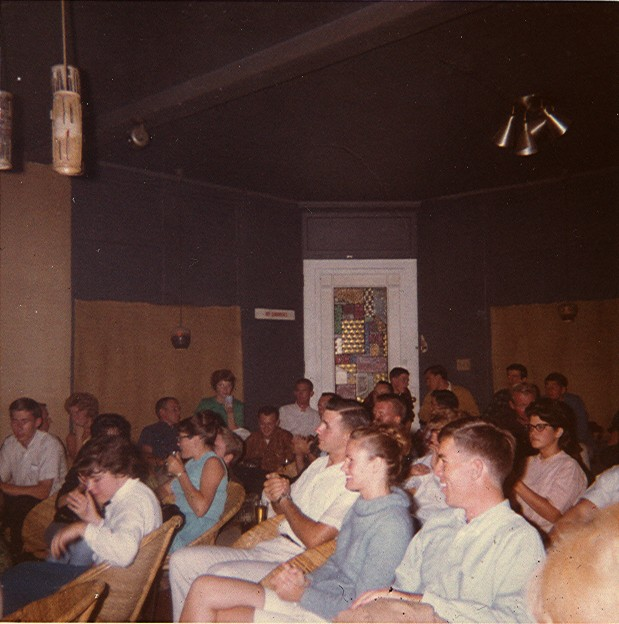 Clean-cut collegiate customers at the Rondo, 1962