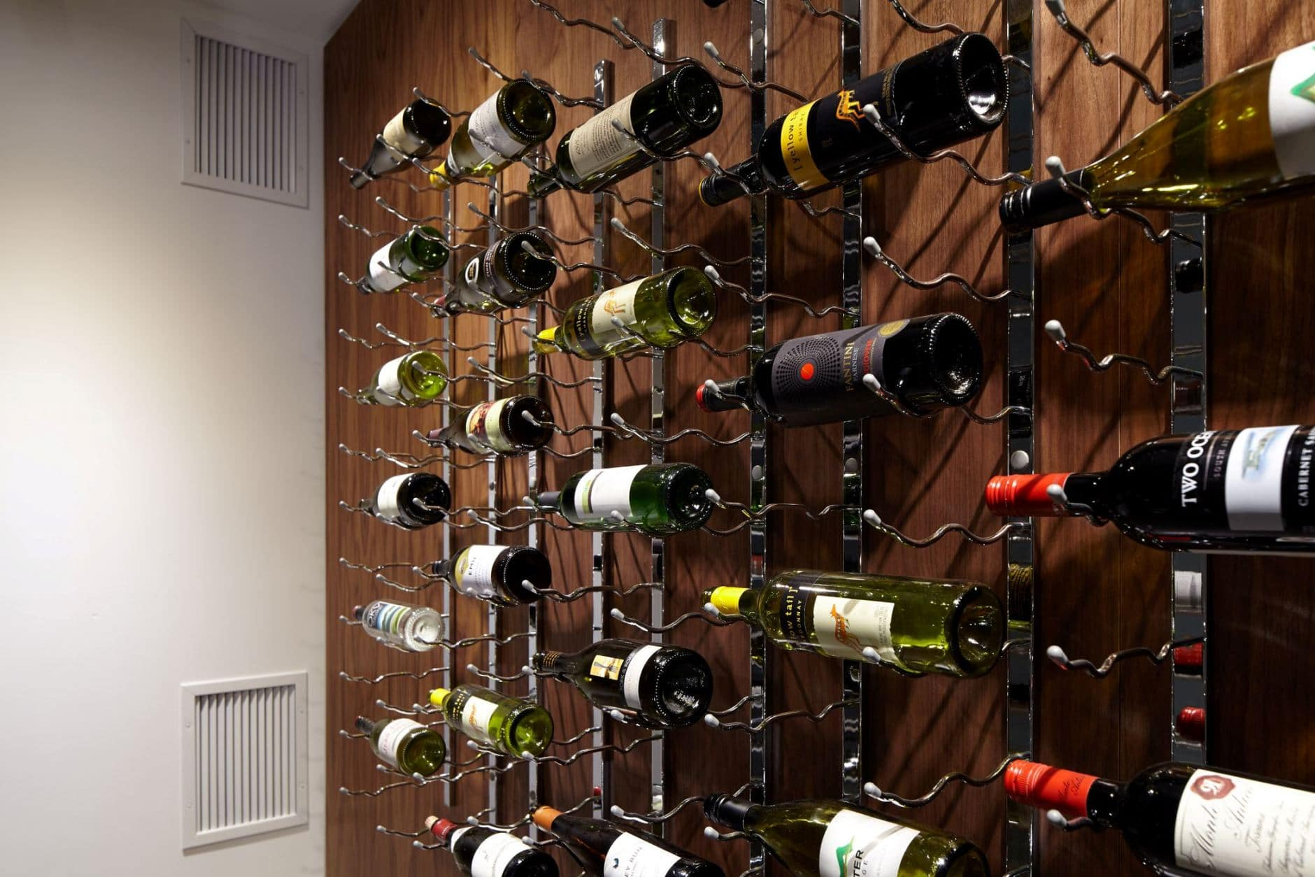 Metal Wine Storage Racks Modern Custom Wine Cellar In Vancouver With Metal Wine Racks And Rails