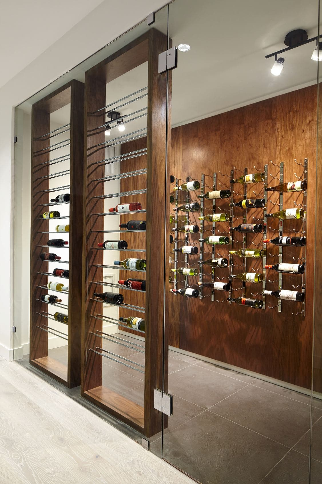 Metal Wine Racks Modern Custom Wine Cellar In Vancouver With Metal Wine Racks And Rails