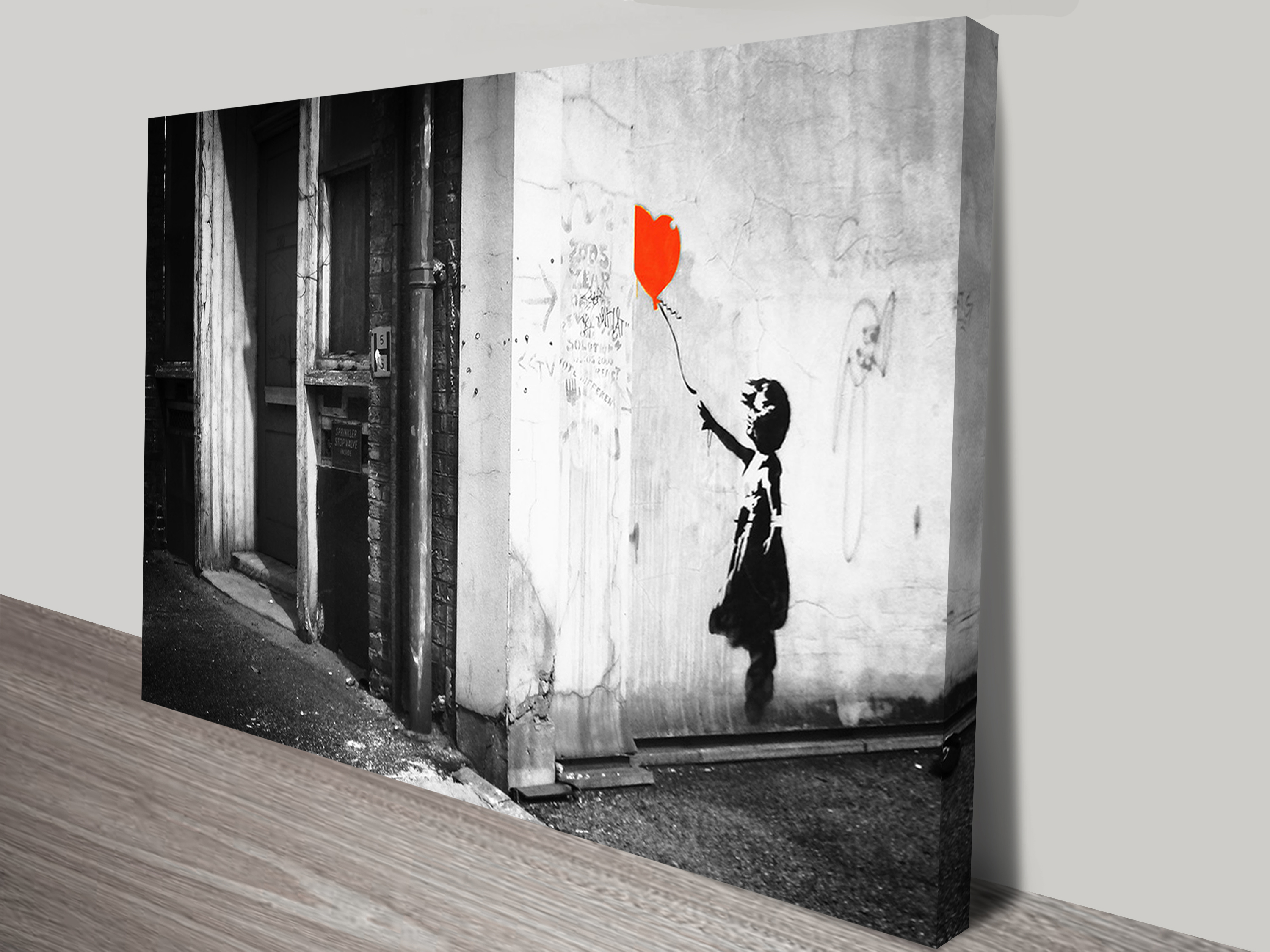 Cool Black And White Posters Banksy Balloon Girl Black And White Print On Canvas