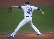 TORONTO, CANADA - JUNE 1: Aaron Sanchez #41 of the Toronto Blue Jays delivers a pitch in the first inning during MLB game action against the New York Yankees on June 1, 2016 at Rogers Centre in Toronto, Ontario, Canada. (Photo by Tom Szczerbowski/Getty Images)