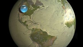 All the water on the Earth