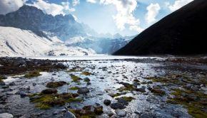 Himalayan glacier-fed stream