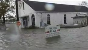 Louisiana church in the flood waters