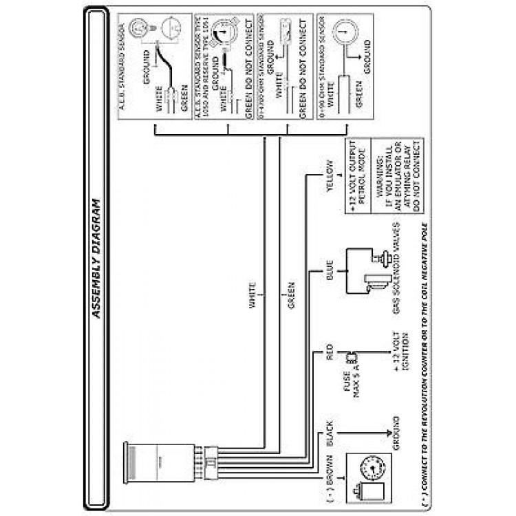 AEB 725 Dash Switch  Gauge Kit for Automotive LPG Conversions