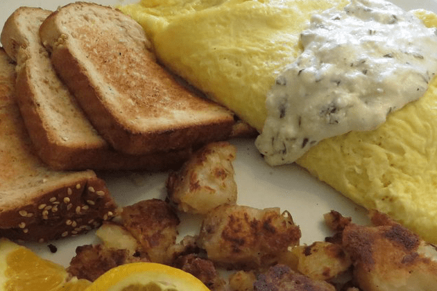 Sweet Potato Omelette - Blue Moon Grill Wakefield via Yelp by Vivian C.