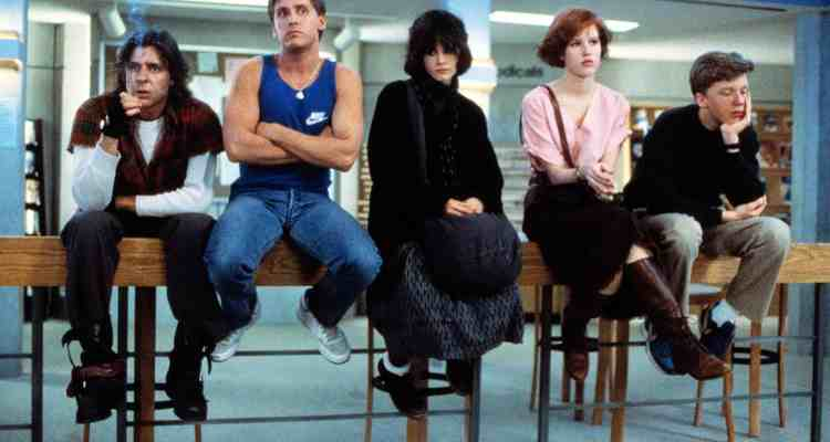 THE BREAKFAST CLUB, Judd Nelson, Emilio Estevez, Ally Sheedy, Molly Ringwald, Anthony Michael Hall, 1985. ©Universal Pictures/Courtesy Everett Collection