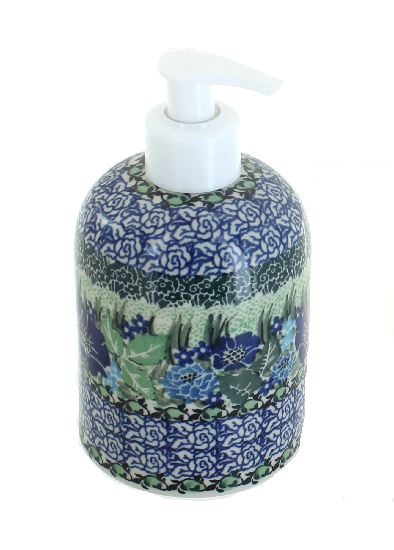 Peacock Paper Towel Holder Blue Rose Polish Pottery Sapphire Fields Soap Dispenser