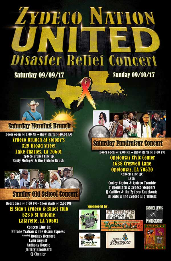 Blues Festival Guide Magazine and Online Directory of Blues - Disaster Relief Flyer