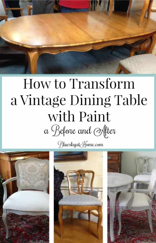 Tisch Lackieren How To Transform A Vintage Dining Table With Paint