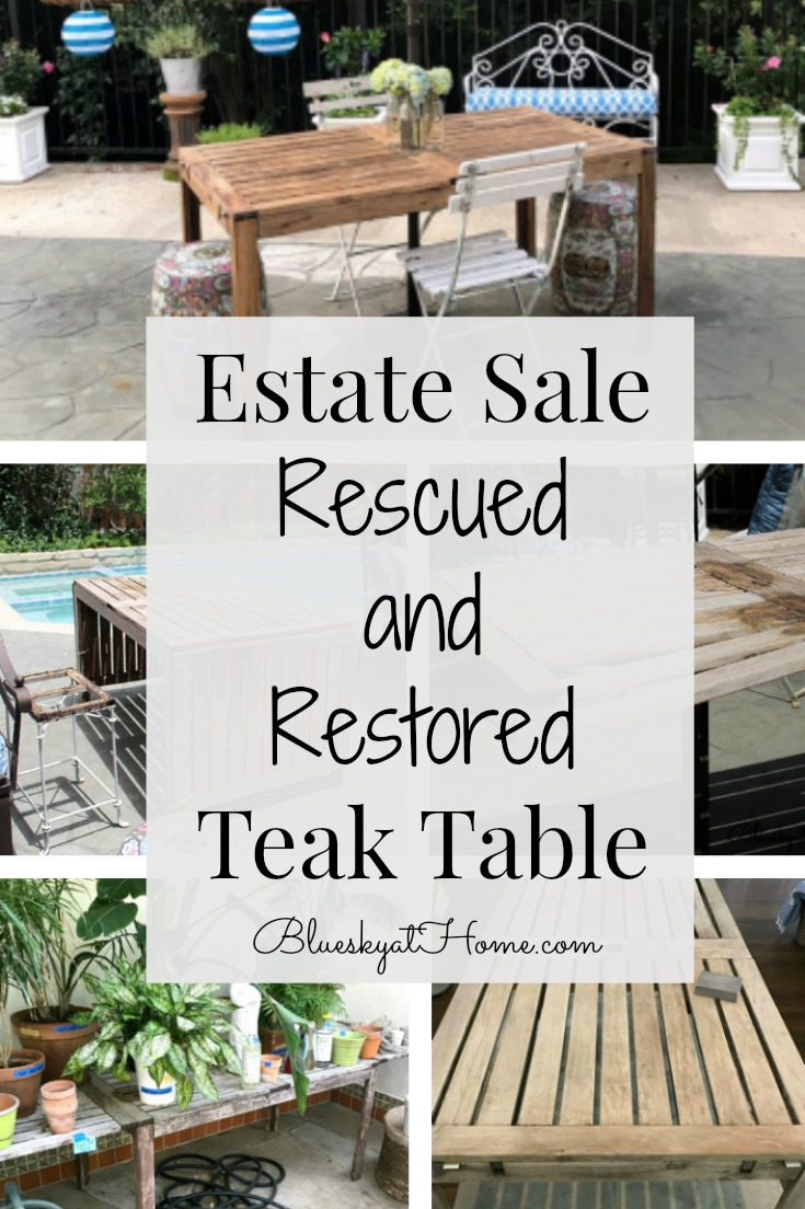 Planting Tables For Sale Estate Sale Rescued And Restored Teak Table Bluesky At Home