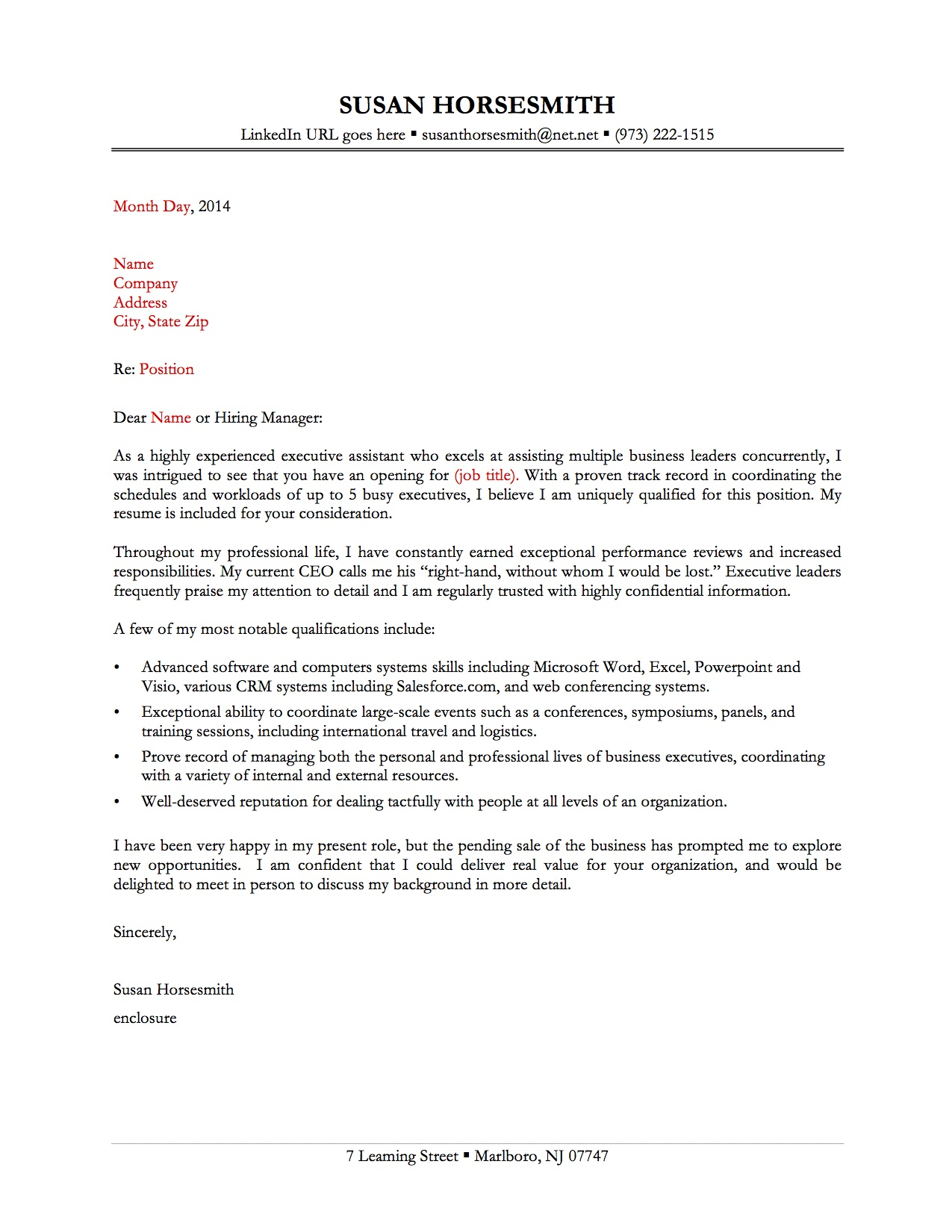 sample cover letter  cover letter sample unknown recipient