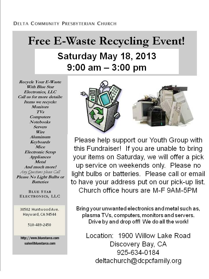 Recycling Events \u2013 Blue Star Recycling - free e flyers