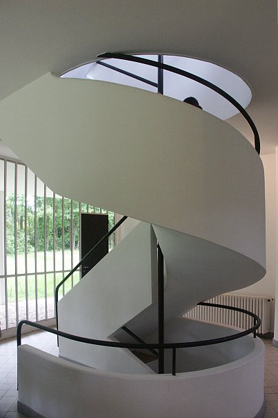 Double Staircase Images Of Villa Savoye By Le Corbusier