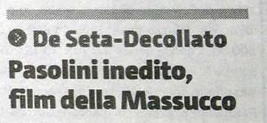 Pasolini, Massucco a Palermo TITOLO