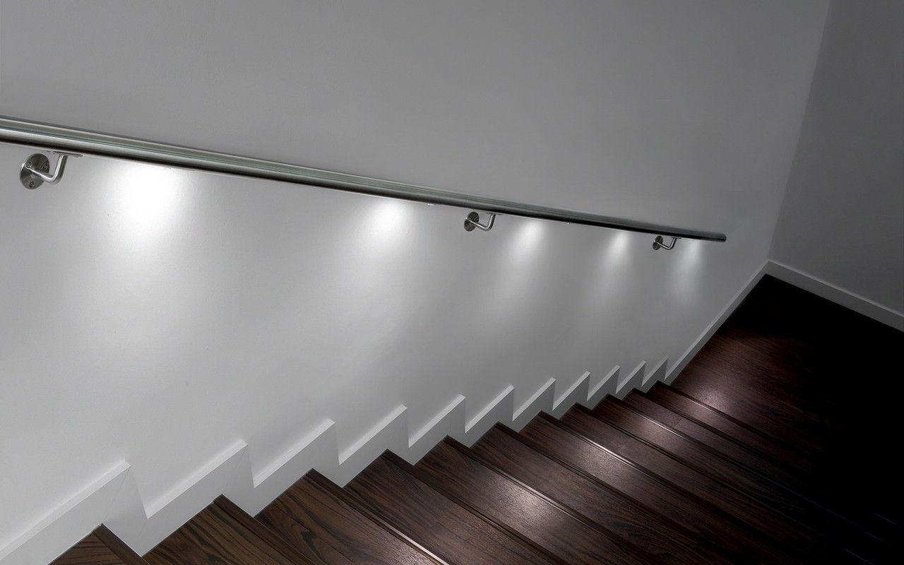 Eclairage Led Escalier Rvs Leuning Met Led-verlichting