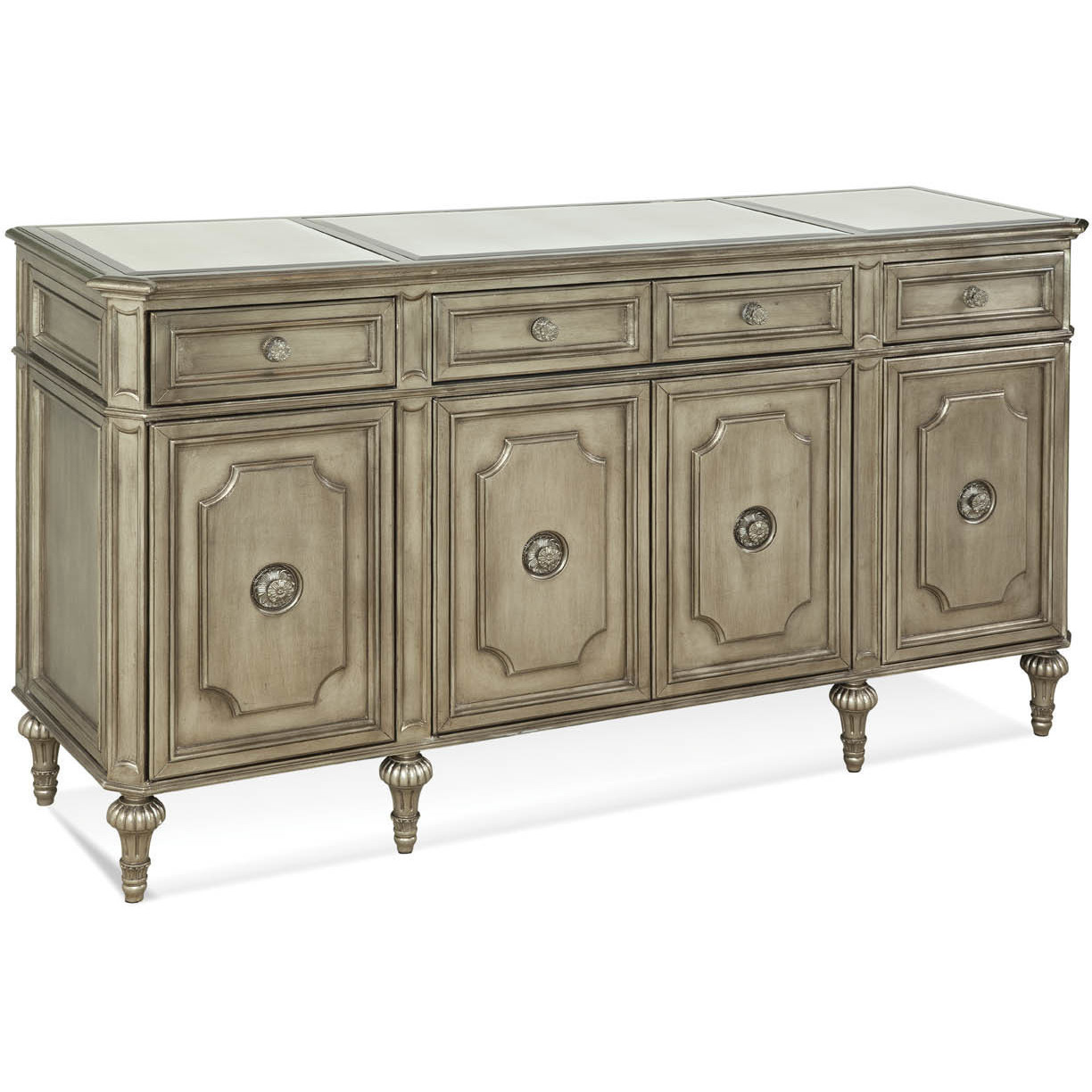 Mirror And Brushed Gold Buffet Blum S Fine Furniture