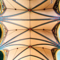 Accordion Ceiling: Inside the Cathedral of the Madeline | Blurbomat.com