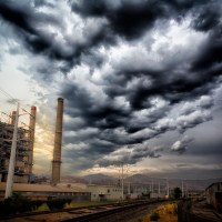 Power Station Clouds | Blurbomat.com