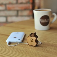 Wooden Apple Speaker by Motz For iPhone, iPod, iPad