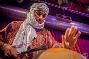 Tinariwen @ KCRW'S Apogee Sessions 3/29/17. Photo by Dustin Downing. Courtesy of KCRW. Used with permission.