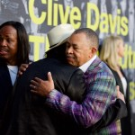 """Verdine White (Earth, Wind & Fire), Carlos Santana & Ralph Johnson (Earth Wind & Fire) on the Red Carpet for """"Clive Davis: The Soundtrack Of Our Lives"""" @ Pacific Design Center 9/26/17. Photo by Derrick K. Lee, Esq. (@Methodman13) for www.BlurredCulture.com."""