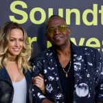 """Tiffany Dunn & Randy Jackson on the Red Carpet for """"Clive Davis: The Soundtrack Of Our Lives"""" @ Pacific Design Center 9/26/17. Photo by Derrick K. Lee, Esq. (@Methodman13) for www.BlurredCulture.com."""